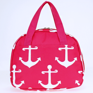 luggage ak ncc20 A P simple anchor lunch box fuchsia white