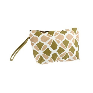 luggage cb10 1348 cosmetic bag flower geometric brown