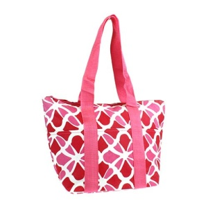 luggage lt15 1348 flower geometric lunch box pink red
