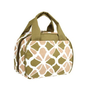 luggage lt9 1348 flower geometric lunch box brown
