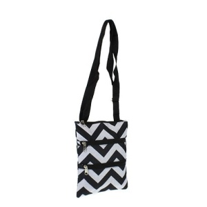 luggage mb1 1324 chevron messenger bag black gray