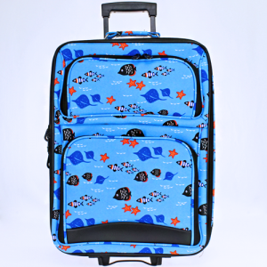 luggage rolling 9120 fish light blue multi