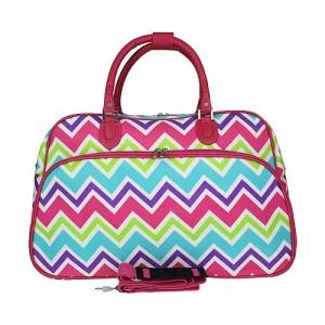 luggage YH f 2014 173 travel duffle bag chevron multi FUCHSIA
