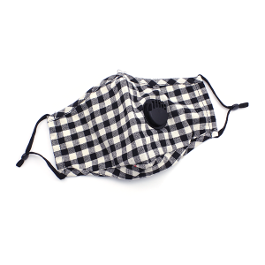 Face Mask 009b buffalo plaid mask vent w/filter pocket