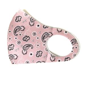 Face Mask 137 bandana mask paisley pink