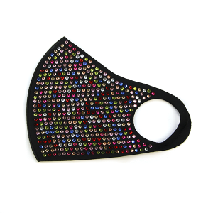 Face Mask 435 rhinestone mask multicolor