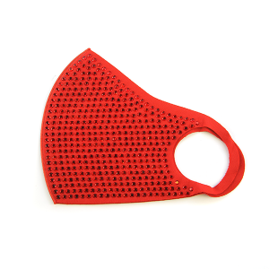 Face Mask 432 rhinestone mask red