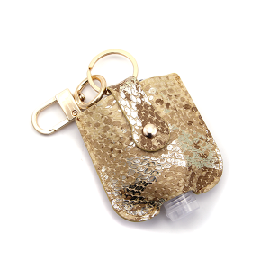 Hand Sanitizer Keychain 005 Snake Brown