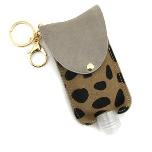Hand Sanitizer Keychain 077 cow gray large