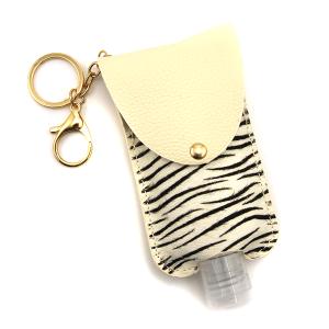 Hand Sanitizer Keychain 075 zebra white large