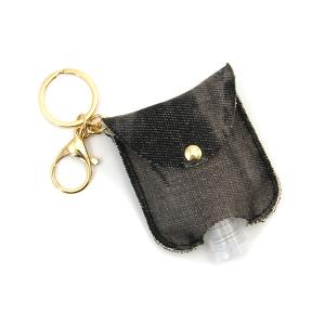 Hand Sanitizer Keychain 061 black denim