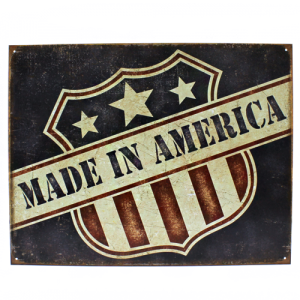 ms 2119 tin sign made in america flag multi