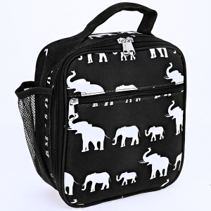 luggage AK NCC17 long lunch box simple elephant black