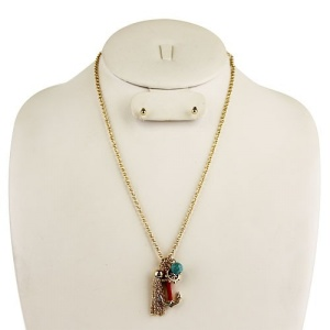 neck 1875d 25 anchor bead red gold