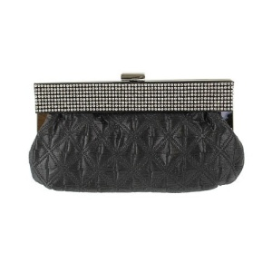 ni hbg 100390B evening bag rhinestone black