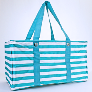 luggage ak NU 23 TO large trunk organizer stripe turquoise