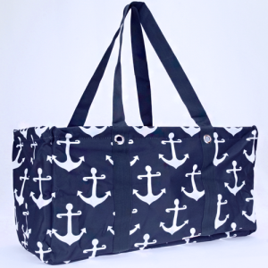 luggage ak NU A NW large trunk organizer simple anchor navy blue white