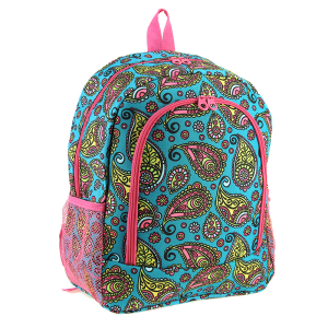luggage 6016 backpack paisley sketch fuchsia