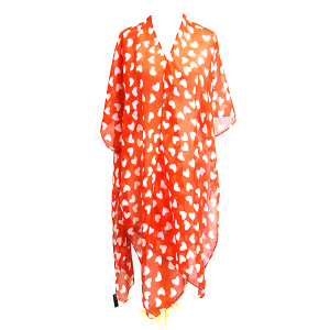 Shawl 478c 34 cute red heart cover up