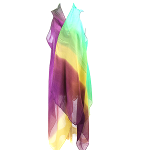 Shawl 212o 34 Mardi Gras Light Weight Cover Up Gradient Sleeveless
