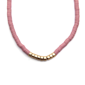 Necklace 922a 78 A Project contemporary minimal necklace gold d-pink