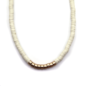 Necklace 934b 78 A Project contemporary minimal necklace gold ivory