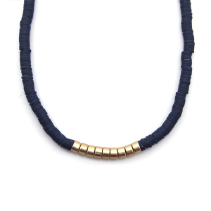 Necklace 933b 78 A Project contemporary minimal necklace gold navy