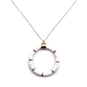 Necklace 917a 78 A Project contemporary chain hoop necklace white