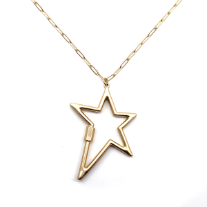 Necklace 936c 78 A Project chain star necklace gold