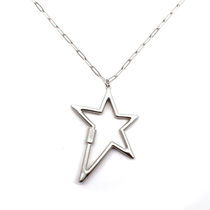 Necklace 902a 78 A Project chain star necklace silver