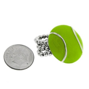 ring 1212 45 tennis ball green silver