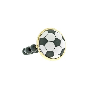 ring 363b 54 soccer ball bead black