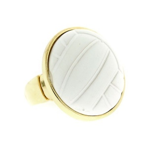 ring 925a 54 volleyball white