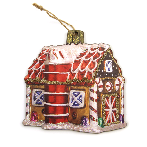 Christmas Ornament 254 12 Tipi Gingerbread House Wood Ornament