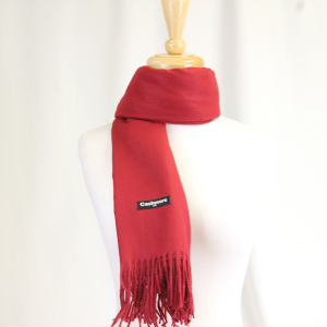 Scarf 642 81 Cashmere Burgundy colored scarf