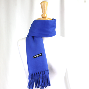 Scarf 643 81 Cashmere Blue colored scarf