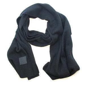 Scarf 540a CC ribbed stretch scarf black