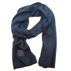 Scarf 542a CC ribbed stretch scarf navy