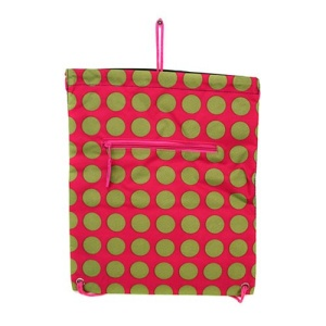 sling bag backpack ak polka dot pink green 810A CANVAS