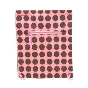 sling bag backpack ak polka dots pink brown CANVAS 807