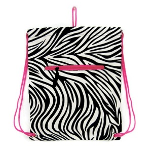 sling bag backpack CK zebra black fuchsia trim 2006p