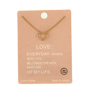 Necklace 1367a Lucky Charm Necklace LOVE gold