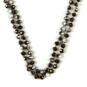 Necklace 909 22 No. 3 30 60 inch bead necklace bw