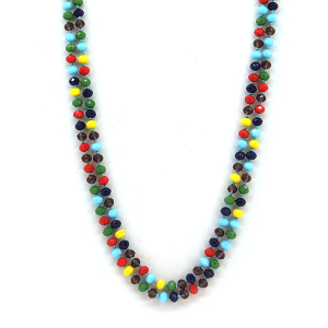 Necklace 630c 30 60 inch bead necklace multicolor
