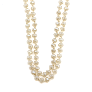 Necklace 1310D 22 No.3 30 60 inch bead necklace natural ivory AB