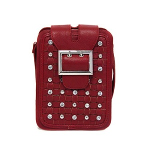 ss a 4905 crystal studs crossbag red