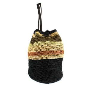ss ce 5714a straw drawstring bag black