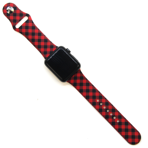 Watch Band 105a 08 38mm 40mm buffalo plaid