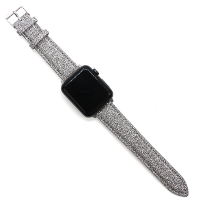 Watch Band 158 08 38mm 40mm silver sparkle