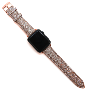 Watch Band 159 08 38mm 40mm rose gold sparkle